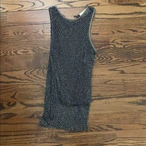 Emanuel Unsaro Grey Beaded Tanktop